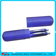 promotional gift pen sets plastic refill bic pencil and pen in a gift set