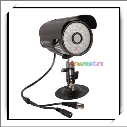 "1/4"" for Sharp 420TVL Cylinder Type Waterproof IR Digital Color CCD Camera Black"