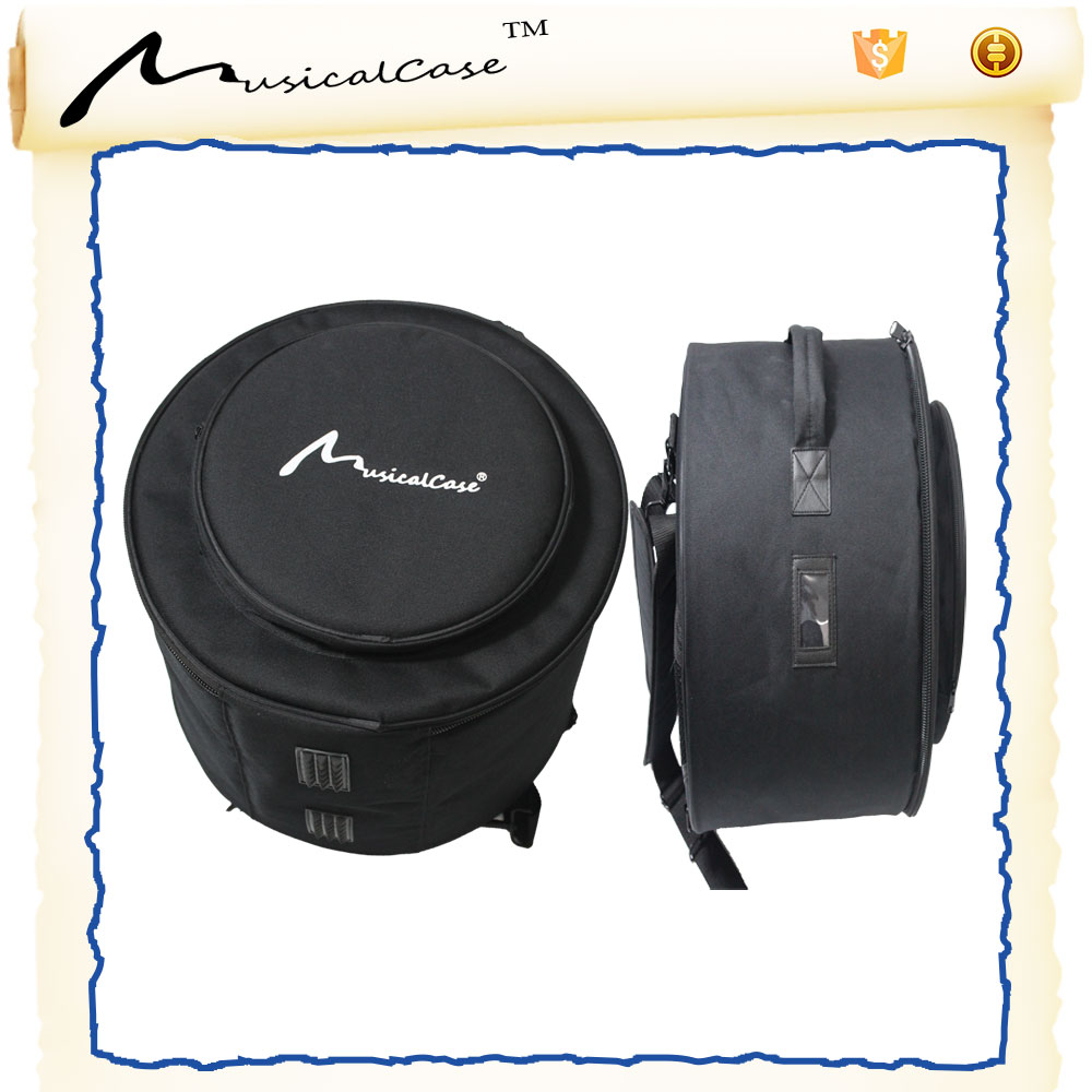 easy carry foldable black and grey cheap for blue color snare drum case / 600D oxfrod drum bag christmas sales / hang drum