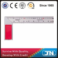 Cheap and heavy duty cast iron try angle square with inch and mm graduations