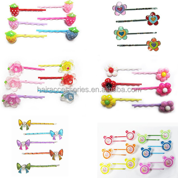 Cute kids' hair bobby pins - classic bobby hair clip with printing for children