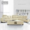 living room furniture leather contemporary 7 seater sectional sofa