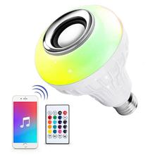 Smart RGB Color Changing Music Ball LED Light E26 / E27 Bulb Built-in Bluetooth Speaker Remote Controlled Via App