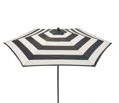 Sturdy steel construction striped Push up opening Sun Shades umbrella