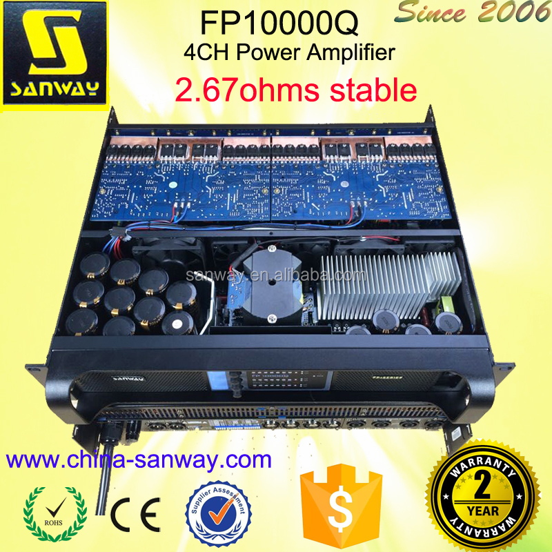 FP10000Q 4 CH Professional Audio Equipment Amplificador Audio