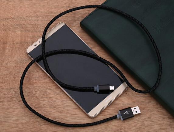 3.3ft/1M PU Leather Coating Aluminum Casing 8-pin USB Sync/Charger Cable for iPhone