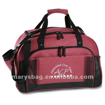 Sport Duffel Bag with Insulated Side Bottle Pocket