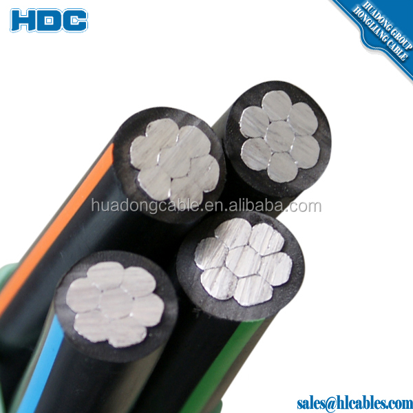 Duplex Service cable Quadruplex drop cable 90A aluminum cable