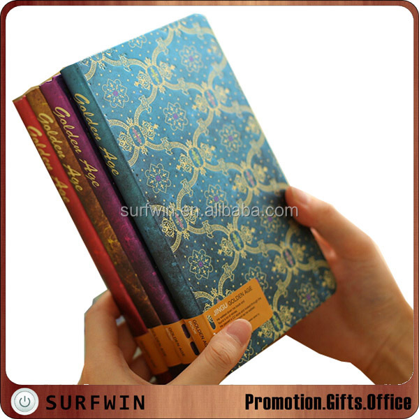 High quality metallic foil paper notebook with custom logo