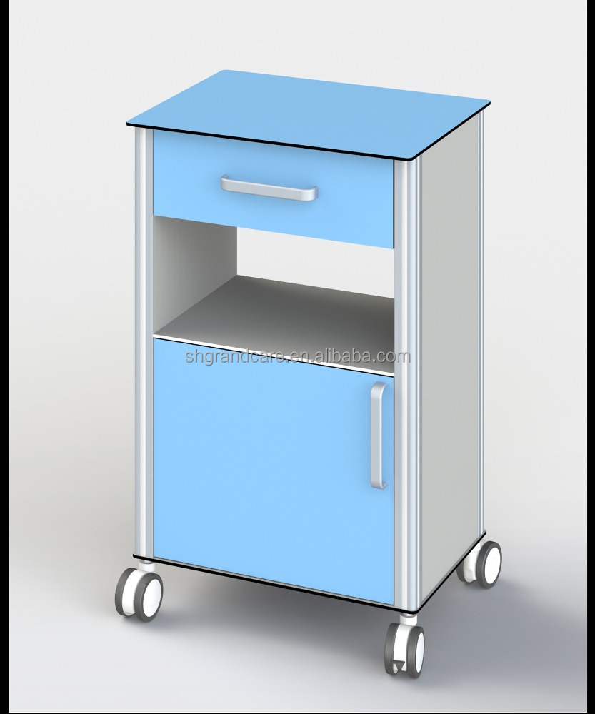 NEW Hospital Bedside Cabinet Lockers Medical Drawers Cabinet With Two Sides Opening Drawers
