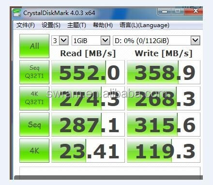 120GB SSD SATA Rev. 3.0 (6Gb/s) with backwards compatibility to SATA Rev. 2.0