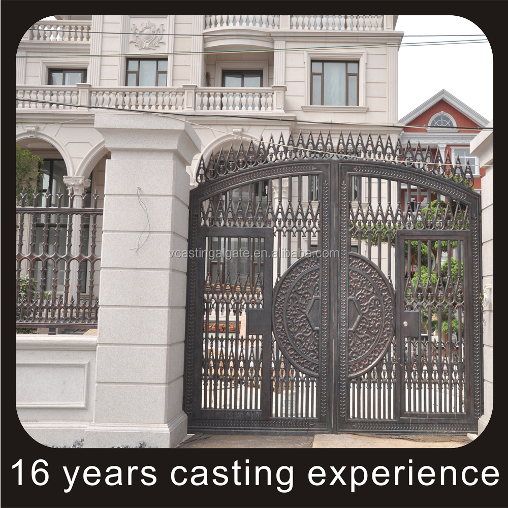 factory direct supply solid outdoor gate design Free mold Production used aluminum door