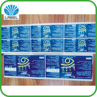 Custom glossy PVC pharmaceutical label, Specialized produce adhesive medicine sticker