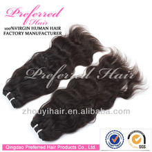 hair extension double drawn Russian/European human hair weft