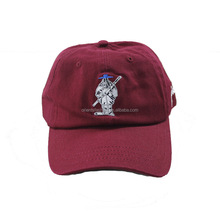 Guangdong maroon dad cap with your logo polo style dad hats
