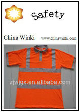 Workwear Safety Polo Shirts Orange Color