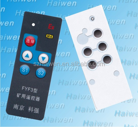 Custom design EBG180 embossed metal domes self adhesive Membrane touch switch with Clear LCD window and carbon pill