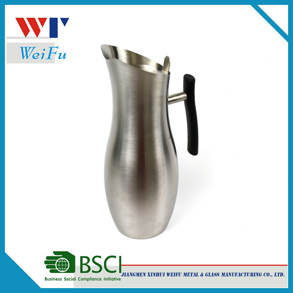 2L stainless steel water jug / milk jug / coffee pot with handle