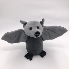 stuffed cute bat toy recordable plush grey bat with shaking wings voice recording toy