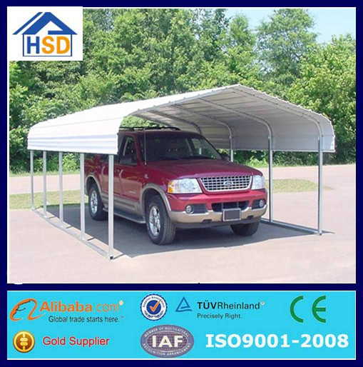 prefab cheap portable mobile attached outdoor 10x20 metal carport