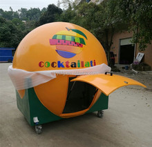 Fruit shape food car/mobile kitchen/coffee kiosk/ice cream cart for sale