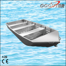 20ft V head and bottom aluminium fishing boat hull for leisure with CE certification