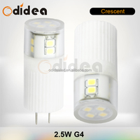 CE RoHs wide beam angle 240 dege led led corn bulb g4 with 2.5w 12v