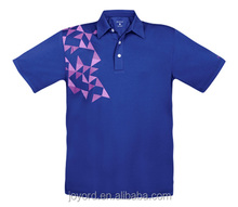 Wholesale Quick Dry Blue men's Golf Apparel Polo Shirt