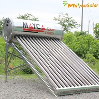 200L hot water /day sus304 stainless steel vacuum tube non pressure solar collector
