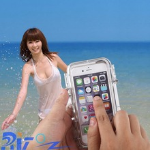 FIT Gpro Sports Waterproof Cover Case With Wide-angle Stand For Iphone5 6 6PLUS Best Quality IP68
