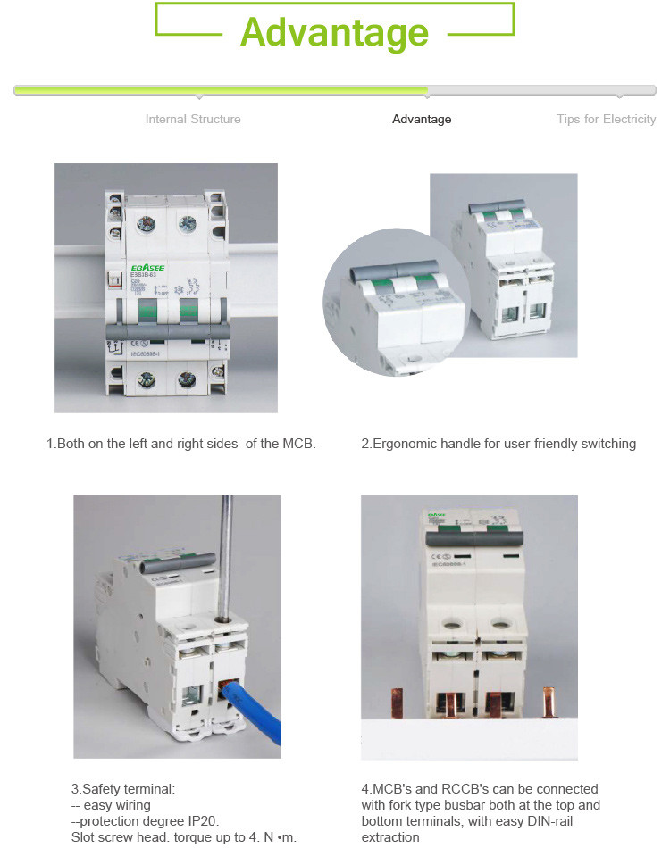 EBS1G series Electrical 3 Phase Main Switch Box