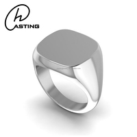 Customized Signet Ring Stainless Steel Mens Ring Blanks