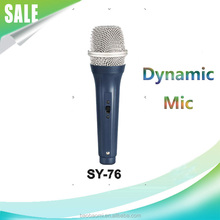 Metal Mic Professional Dynamic Wire SY-76-1 KTV Mic With Good Quality Black Handheld