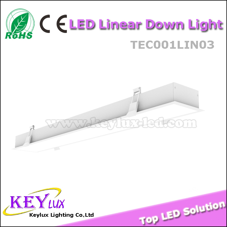 2016 Elegant Integrated Shape High Quality Linear LED Downlight 10W 0.3M Black/ Silver/ White Finish