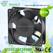 Black Frame Noiseless Water Proof 120V Muffin Fan