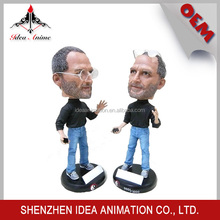 OEM 15cm high simulation resin bobble head figure