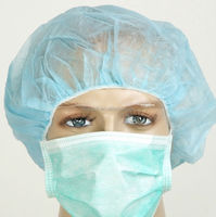 Disposable nylon non woven nurse cap
