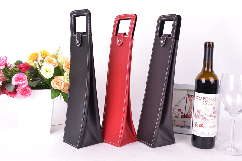 wine packing bag leather custom wine travel bag wholesale wine bottle bag factory outlet