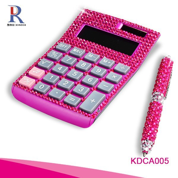 Pink Crystal Calculator Office Calculator for students