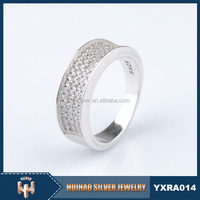 vogue jewelry latest design 925 sterling silver cz wedding rings for men