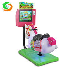 Arcade kids coin operated game machine amusement center horse racing game machine