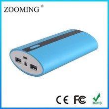 products 18650 battery portable 2 outputs universal power bank 8400mah universal portable power bank for mobile phone