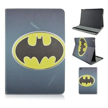 For iPad air 2 Batman Logo PU Leather Flip Stand Case