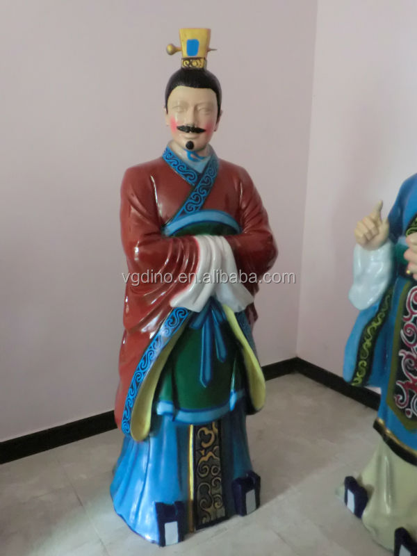 Fiberglass life size ancient dynasty human statue for sale