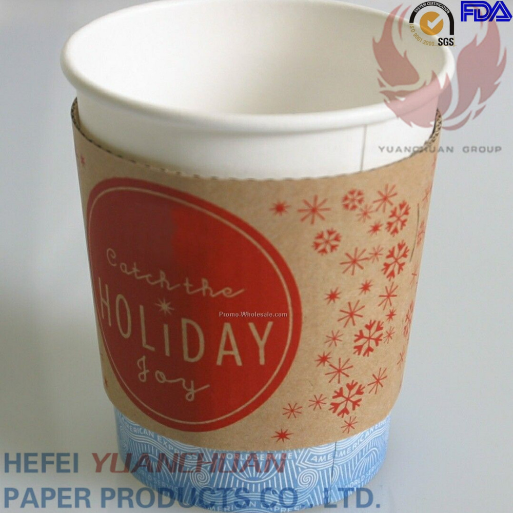 2015 new products cheap China supplier hot drink kraft paper or white card paper cups samples custom coffee sleeve