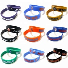 Wholesale Custom cheap Logo Printed Silicone Wristband No Minimum Embossed Silicone Wristbands