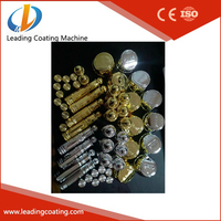 glass & plastic perfume caps gold silver color UV spray line High Vacuum PVD Metallization Coating Machines plant