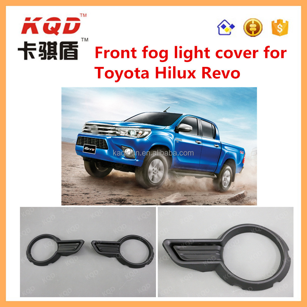 2016 new accessories Front Fog light Cover Fog lamp Cover Exterior auto spare car parts For Toyota Hilux REVO 2016