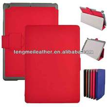 Hot red coach pu leather wallet stand cover case for ipad air/5