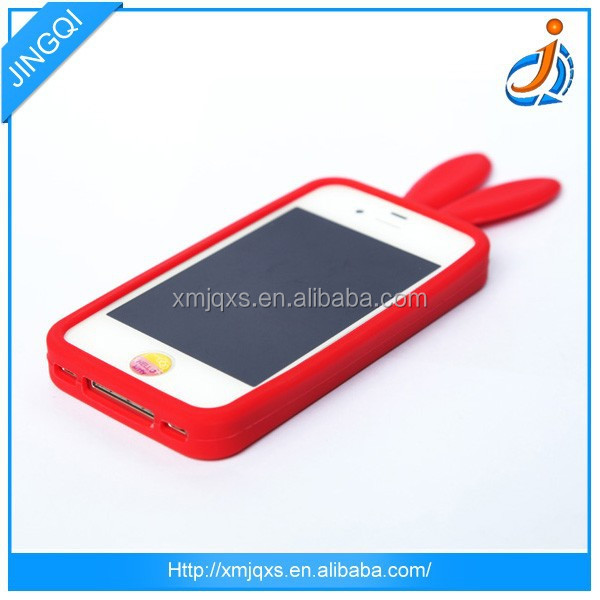 Most popular silicone case for htc with rabbit ears